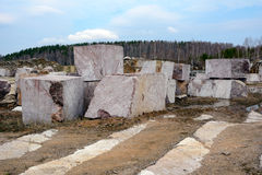 The quarry for marble mining Stock Photo