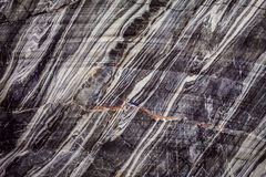 Quarry of natural deposits of marble. Background texture of natural marble Stock Images