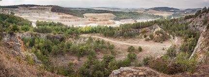 Quarry with nature stock images