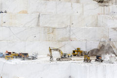 Quarry Of White Marble Stock Image