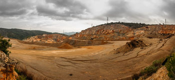 The quarry: one of the sites of extraction of essential raw material. The quarry: one of the sites of extraction of rock royalty free stock photography