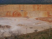 Quarry is an open pit mine Stock Photos