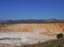 Quarry is an open pit mine Royalty Free Stock Photography