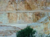 A quarry is an open pit mine Royalty Free Stock Photos