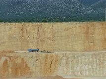 A Quarry is an open pit mine Stock Photo