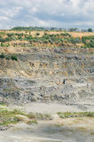 Quarry - open-pit mining for rocks Stock Image