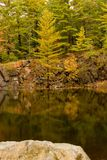 Quarry Pond in Autumn Royalty Free Stock Photography
