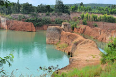 Quarry pond Mini Grand Canyon near Chiang Mai Royalty Free Stock Photos