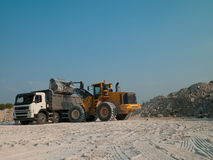 Quarry production Royalty Free Stock Photography