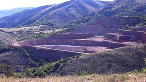Quarry red marble. stock footage
