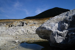 Quarry with reflection Royalty Free Stock Photography