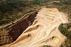 Quarry in Riba-Roja del Turia in Valencia Royalty Free Stock Image