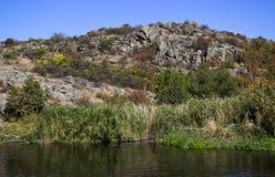Quarry and river Stock Photos