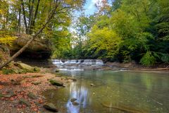 Quarry Rock Falls royalty free stock image