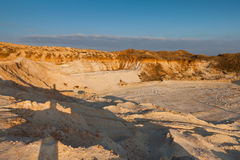 Quarry sand. Abandoned quarry sand at sunset Royalty Free Stock Photos
