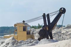 Quarry sand and gravel Royalty Free Stock Photo