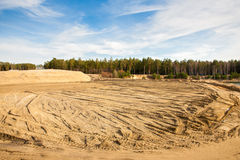 Quarry for sand mining Stock Photo