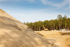 Quarry for sand mining Royalty Free Stock Photos