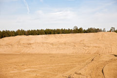 Quarry for sand mining Royalty Free Stock Images