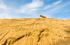 Quarry for sand mining Royalty Free Stock Image