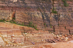 Quarry of sandstone Royalty Free Stock Photography