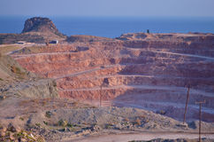 Quarry by the sea Royalty Free Stock Image