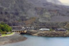 Quarry tilt and shift A Stock Photography