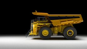 Quarry truck background stock photos