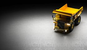 Quarry truck background royalty free stock photography