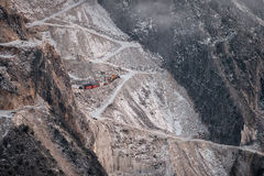 Quarry in tuscany, Carrara Stock Images
