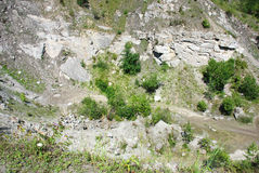 Quarry under Koziniec. Koziniec abandoned quarry in Bieszczady Mountains (Poland Royalty Free Stock Photography