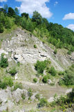 Quarry under Koziniec. Koziniec abandoned quarry in Bieszczady Mountains (Poland Stock Image