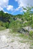 Quarry under Koziniec. Koziniec abandoned quarry in Bieszczady Mountains (Poland Stock Images