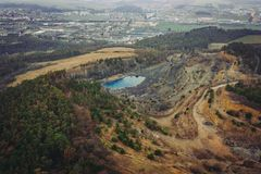 Quarry Kosov in central Bohemia royalty free stock photo