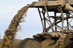 Quarry washing sand Royalty Free Stock Photo