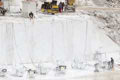Quarry of white marble. Drama, Greece, October, 22 2012, work in quarry of white marble Stock Photo