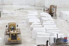 Quarry of white marble stock photos