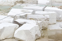 Quarry of white marble Stock Photo