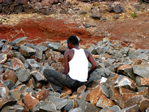 Quarry Worker royalty free stock photos