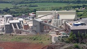 Quarry Workings Royalty Free Stock Photos