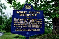 Quarryville PA: Födelseort av Robert Fulton Royaltyfri Foto