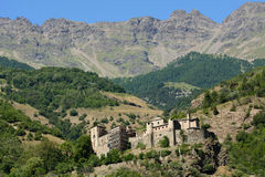 Quart Castle. A.D. 1185 - Aosta Valley - Italy Royalty Free Stock Images
