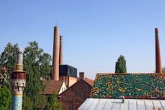Quart culturel de Zsolnay de cheminée d'usine Images stock