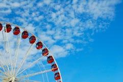 Quart d'une roue de Ferris Images stock