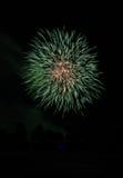 Quart de célébration de feux d'artifice de juillet Images libres de droits