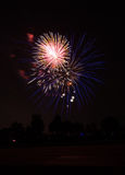 Quart de célébration de feux d'artifice de juillet Photos libres de droits