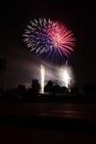 Quart de célébration de feux d'artifice de juillet photographie stock