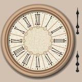 Quart de cercle d'horloge victorienne avec des bistouris Image libre de droits
