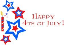 Quart de célébration de juillet Photo stock