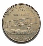 Quart de dollar de la Caroline du Nord photo stock